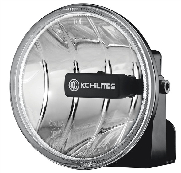 "Gravity LED G4; Universal 4"" Round LED Replacement Single Fog Light - KC HiLiTES #1495 (Amber)"