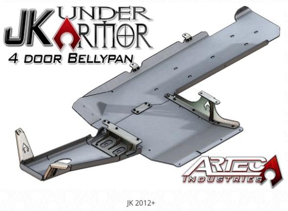 Artec Industries JK Under Armor - Four door Bellypan Kit - JK1010