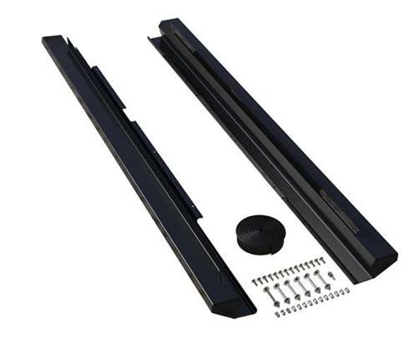 Teraflex JKU 4-Door Aluminum Rock Slider Kit - Powder Coat