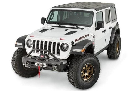 WARN ELITE SERIES STUBBY FRONT BUMPER WITH TUBE, JEEP JL - 101330