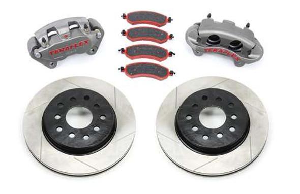 JK/JKU Front Big Brake Kit w/ Slotted Rotors