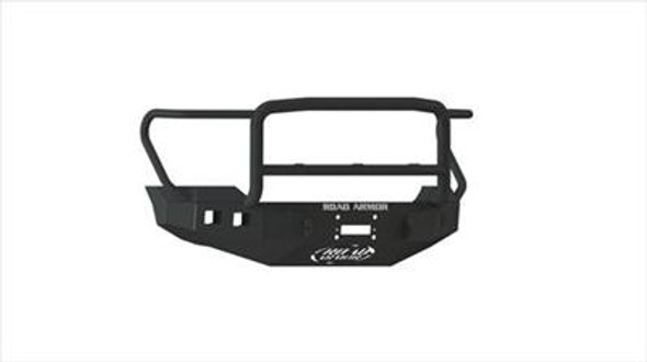 Road Armor Front Stealth Winch Bumper, Lonestar Guard, Satin Black 14