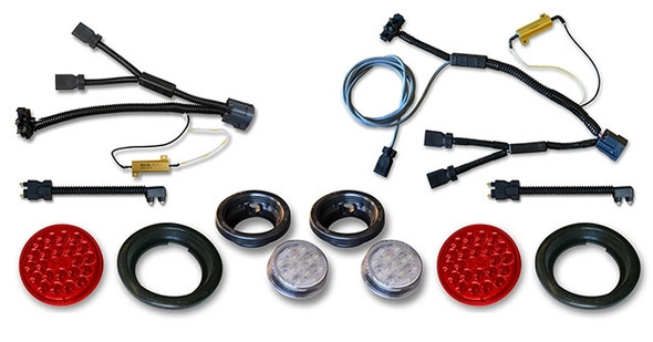 Poison Spyder JK LED Tail & Reverse Lights with Wiring Harnesses Kit