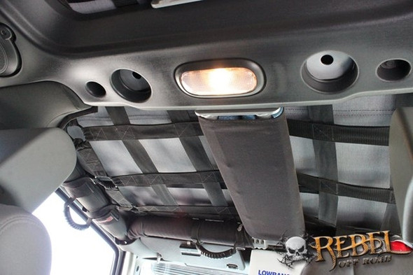 Rock Hard 4x4 Padding Kit for Rear Overhead Center Bars for Jeep Wrangler JK 4DR 2007 - 2018