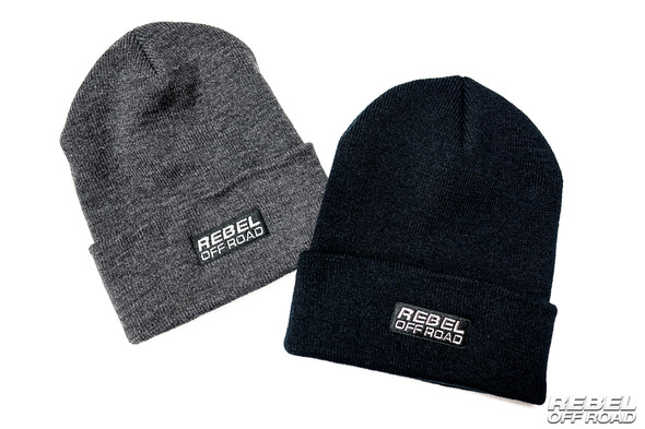 Rebel Off Road Black/Gray Beanies