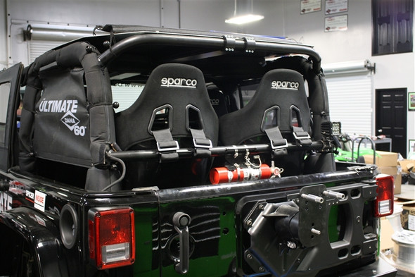 Rock Hard 4x4 Rear Bench Harness Bar for Jeep Wrangler JK 4DR 2007 - 2018