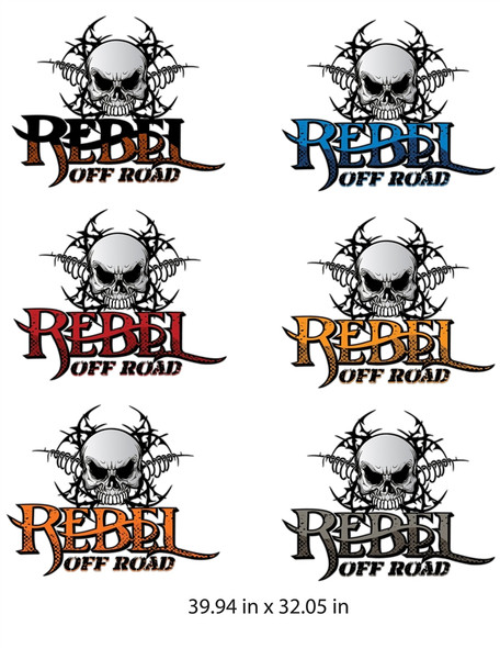 Official Rebel Off Road Top Hood Jeep Wrangler Graphics / Decals