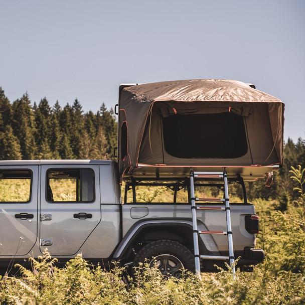 Tuff Stuff® ALPHA™ Hard Top Side Open Tent, Gray, 4 Person - TS-RTT-CS-GR