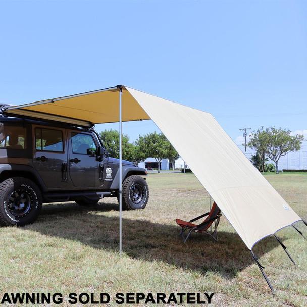 Tuff Stuff® Overland Awning Shade Wall, 6.5 x 8 Feet - TS-AWN-SW-6.5