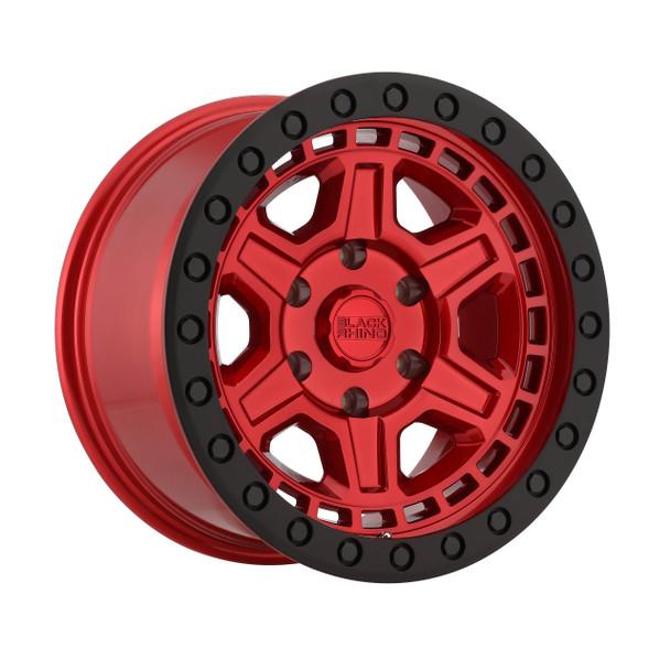 Black Rhino Reno- Candy Red, Black Ring Wheels