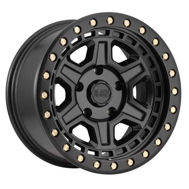 Black Rhino Reno- Matte Black, Brass Bolts Wheels