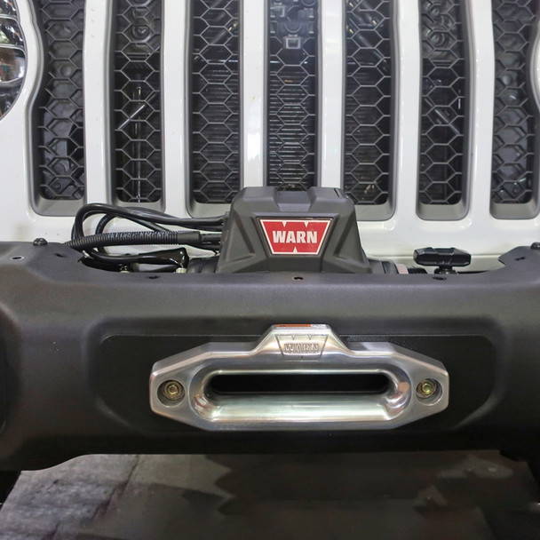 Rock Hard 4x4 Winch Plate for Factory Steel Front Bumper, Jeep Wrangler JL / Gladiator JT