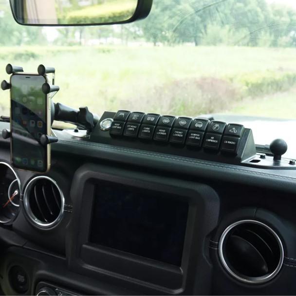 Voswitch Upper Dash Switch Panel, 2018+ Jeep Wrangler JL, 2020+ Gladiator