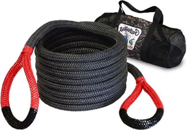 "Breaking Strength: 28,600 lbs.7/8"" x 30' — the original strap buster! Use this recovery rope for 4x4 trucks, Jeeps, and SUVs. Made from the highest quality nylon, this powerful rope is the best choice for safe recovery and towing, with a breaking strength of 28,600 pounds. Length is determined before rope is under load."