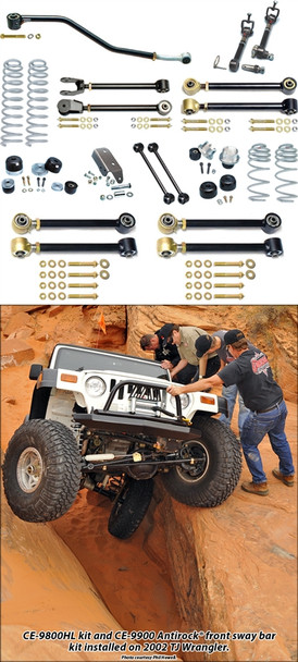 Currie Enterprises 04-06 Jeep Wrangler Unlimited / LJ - Suspsension System With Swaybar Disconnects - No Shocks
