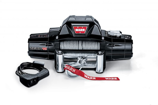 WARN 89120 ZEON™ 12 Winch with 80' Wire Rope and Roller Fairlead