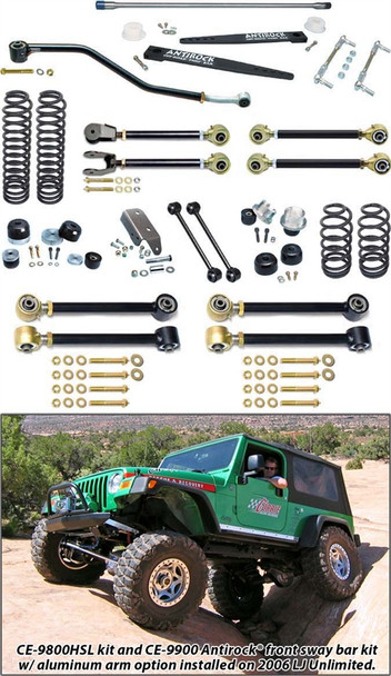 Currie Enterprises 04-06 Jeep Wrangler Unlimited / LJ Suspension System W/ Antirock Double Adjustable Upper Arms - No Shocks