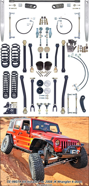 Currie Enterprises 07-13 Jeep Wrangler Unlimited (JK) Suspension System **4DR** W/Front Swaybar Links and Rear Antirock W/ Aluminum Arms - No Shocks - Kit
