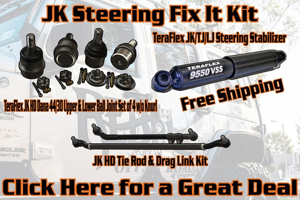Rebel Off Road BUNDLE: JK Steering Fix-It Kit