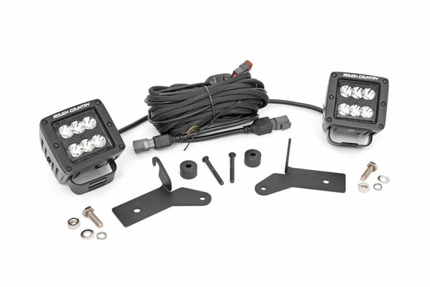 ROUGH COUNTRY JEEP 2-INCH LED LOWER WINDSHIELD KIT (2018 WRANGLER JL)