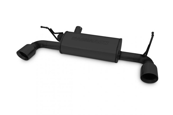 MAGNAFLOW Performance Axle-Back Exhaust System in Black V6 3.8L Axle-Back; 5 x 8 x 18in. Muffler; 2.5in. Tubing; 3.5in. Black Tips; DUAL SPLIT REAR EXIT