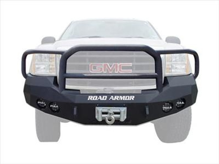 Road Armor Front Stealth Winch Bumper, Lonestar Guard, Satin Black