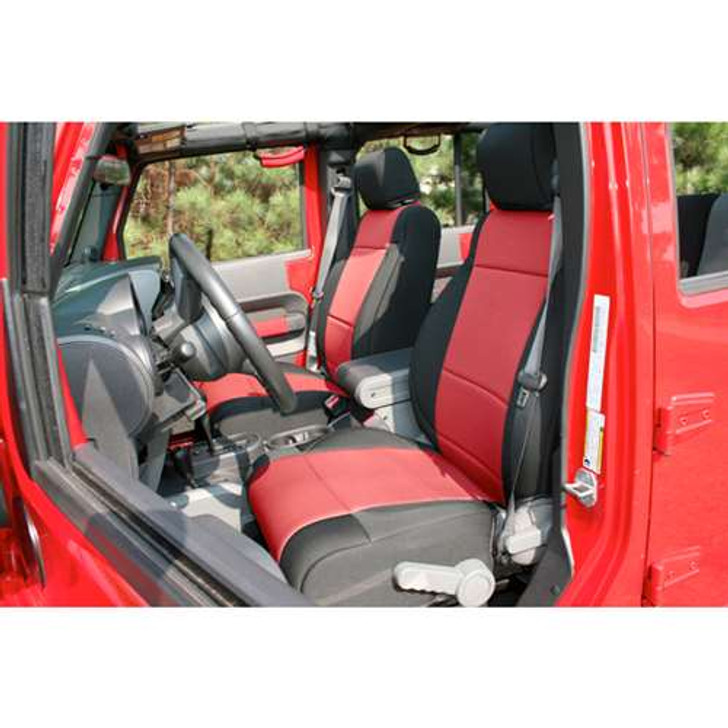 Rugged Ridge Cover Seat FR JK 11-14 BLK/Red