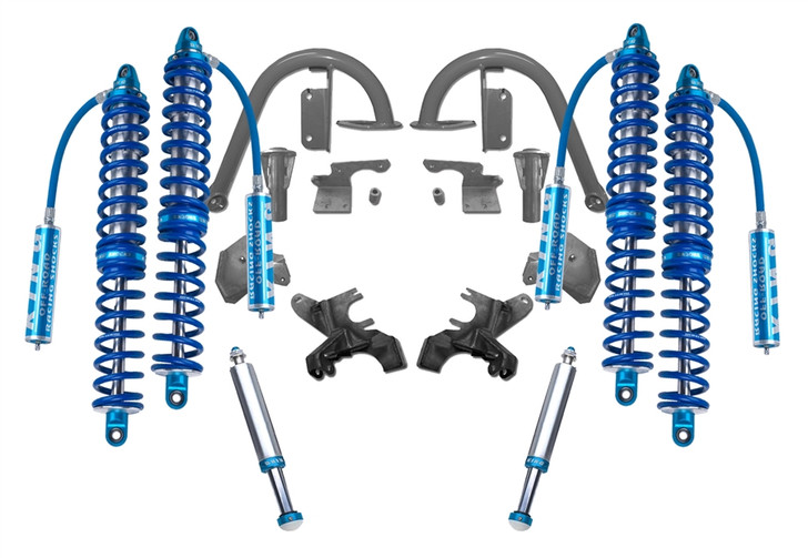 "Recon Complete 2.5 12"" Front and 14"" Rear Coilover Kit with Bumpstops JK 2007-2018"