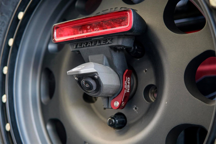 "5x5/"" Alpha HD Adjustable Spare Tire Mounting Kit Teraflex 4838910 Black JL//JLU Complete"