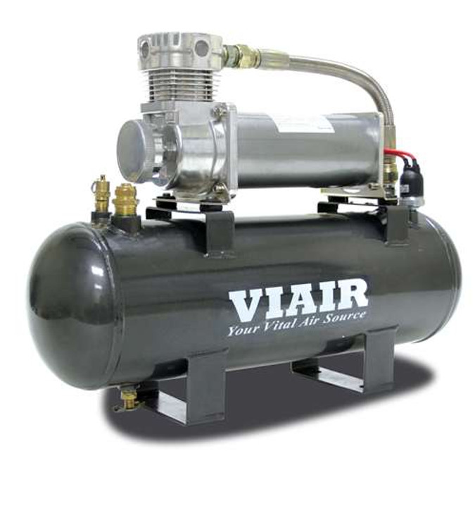 VIAIR 200 Psi 2.0 Gal. Tank High-Flow-200 Air Source Kit (200 Psi Compressor, 12V)