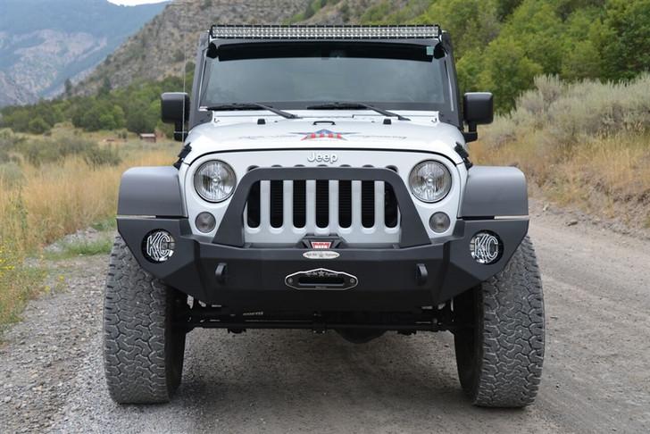 Rock-Slide Engineering Jeep JK Rigid Front Bumper Complete - Steel