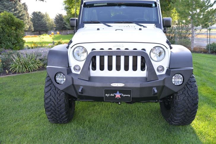 Rock-Slide Engineering Jeep JK Rigid Front Bumper / Bull Bar / NO Winch Plate - Steel