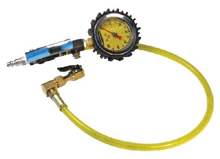 "Powertank Tire Inflator, 60 Psi, Clip-On Chuck, 24"" Whip"