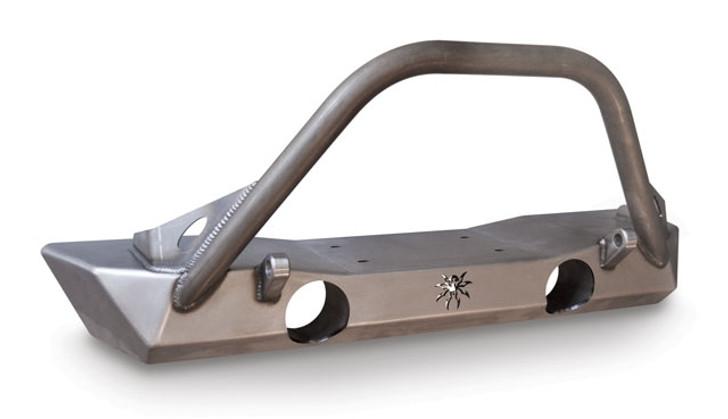 Poison Spyder JK Brawler Lite Front Bumper - Brawler Bar - Plate Gussets - Tabs