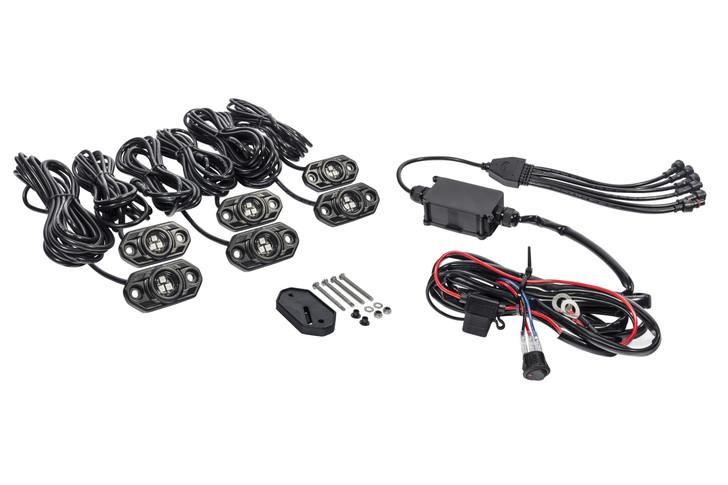 KC HiLiTES C-Series RGB LED Rock Light Kit - 6 PC - #339