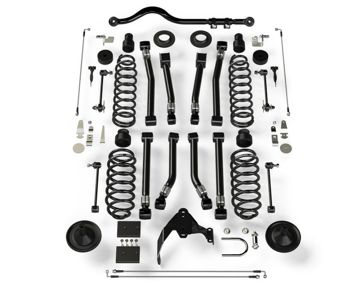 "Teraflex JKU 4-Door 4"" Lift Suspension System w/ 8 Alpine Flexarms & Track Bar"