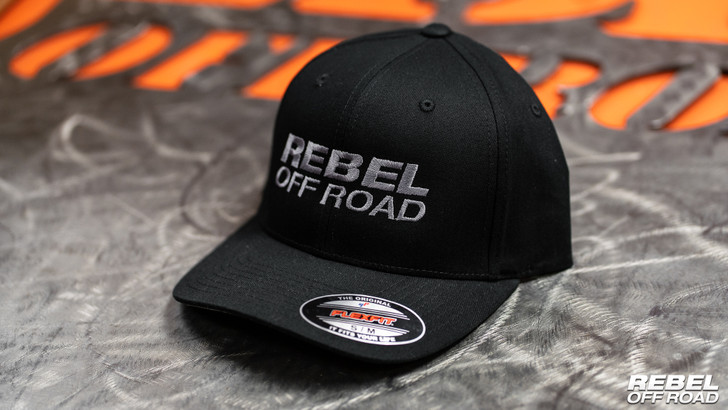 Rebel Off Road #TeamRebel FlexFit Hat (Black)