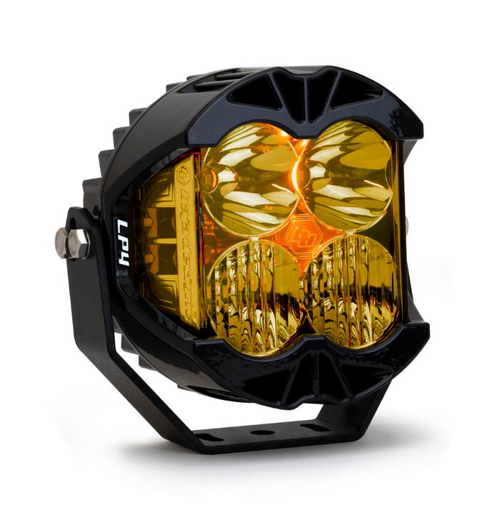 Baja Designs LP4 Pro Spot or Driving/Combo LED Light Amber - Single