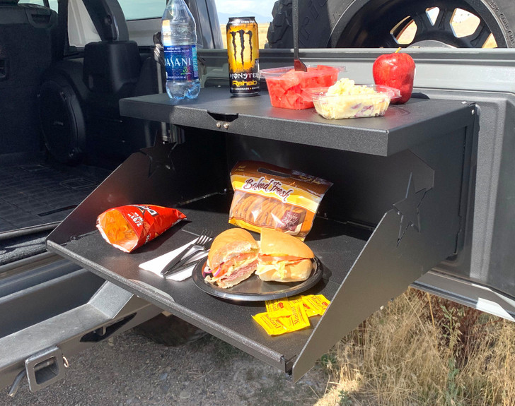Trail Tailgate Table for Jeep Wrangler JK and JL by Rock Slide Engineering - AC-TB-200