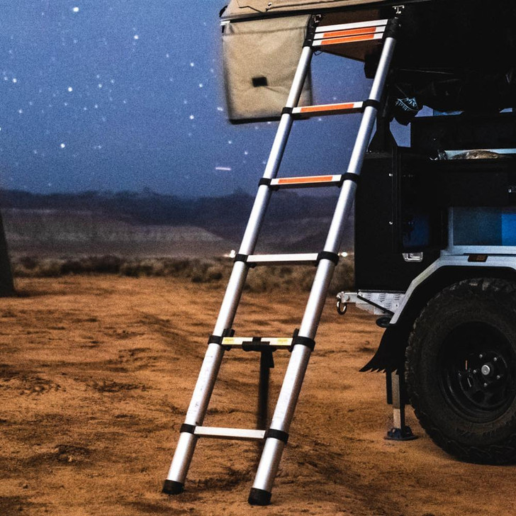 Tuff Stuff® Overland Roof Top Tent Telescoping Ladder, 97 IN - TS-LDR-TELE-2.6M