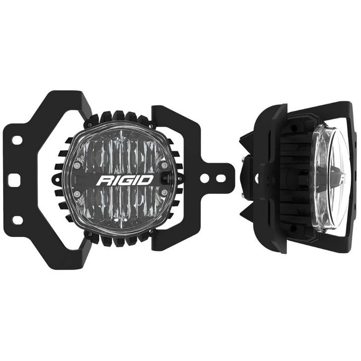 Rigid Industries 37108 SAE Round Fog Light & Mount Kit for 18-21 Jeep Wrangler JL & Gladiator JT Sport & Sport S