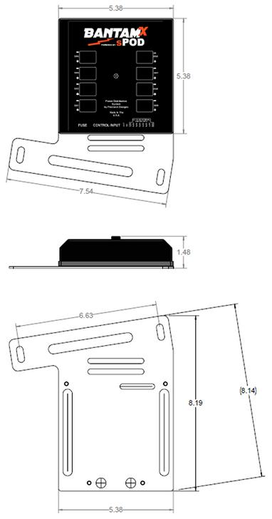 sPOD BantamX Touchscreen For JK 2007-2018 - BX-TSB-JK