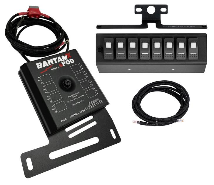 sPOD BantamX W/ Blue LED Switch Panel For JK 2007-2008