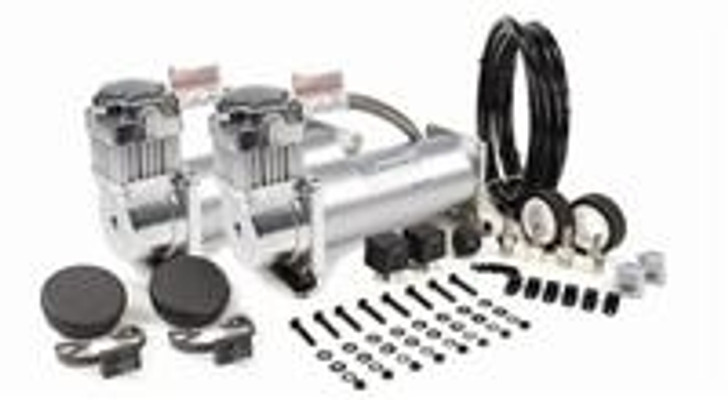 VIAIR Dual Silver 450C Value Pack (450C/2, 110/145 P. Switch, 40 Amp Relay/2)