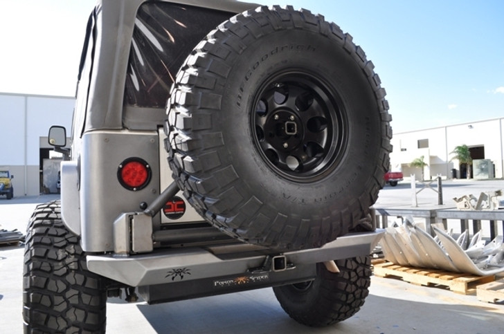 Poison Spyder TJ -LJ Rockbrawler Rear Bumper With Tire Carrier