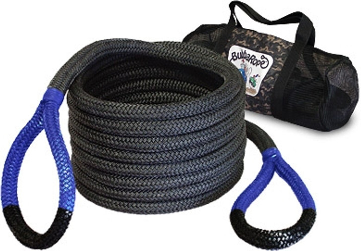 """Breaking Strength: 28,600 lbs.7/8"""" x 20' — This is the same great recovery rope as the original but only a few feet shorter. With a breaking strength of 28,600 pounds, this reliable and safe recovery rope is ideal for 4x4 trucks, Jeeps and SUVs. Comes with its own mesh duffle bag for easy carrying and storing. Length is determined before rope is under load.30' length also available."""