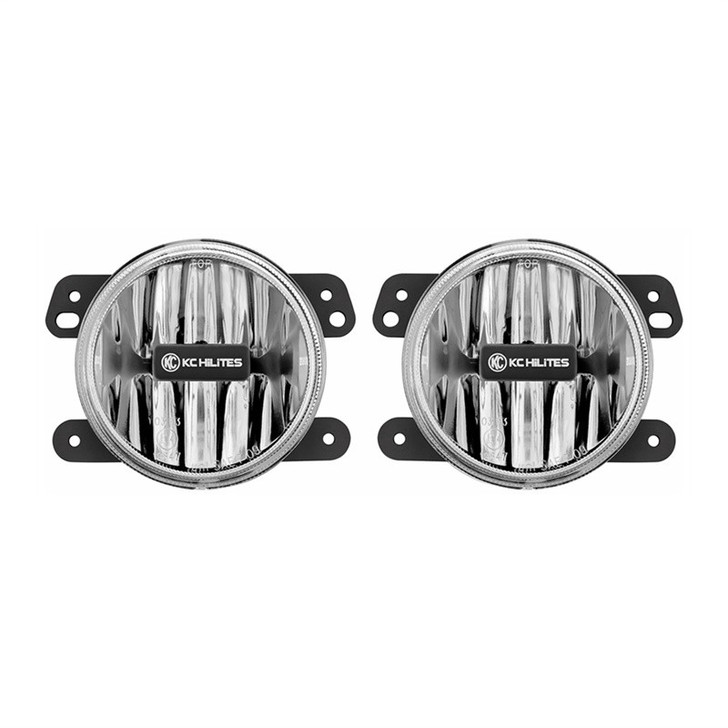 KC HiLiTES GRAVITY® LED G4 JEEP JK LED FOG PAIR CLEAR PACK SYSTEM (10-18)