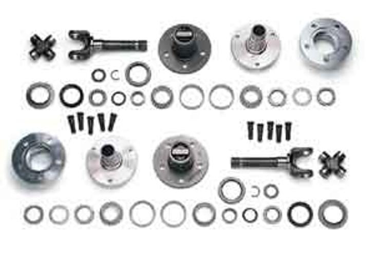 """Currie Warn Manual Locking Hub Kit - YJ, TJ, LJ, XJ, MJ 5x4.5"""" Wheel Bolt Pattern"""