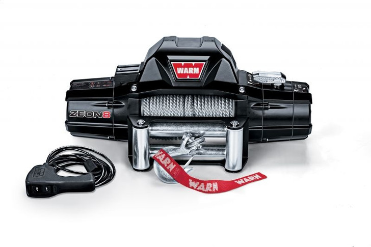 Warn ZEON 8 Winch w/ 100' wire rope and Roller Fairlead
