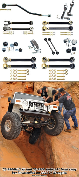 Currie Enterprises Johnny Joint Suspension System and Swaybar Disconnects - No Shocks - No Springs